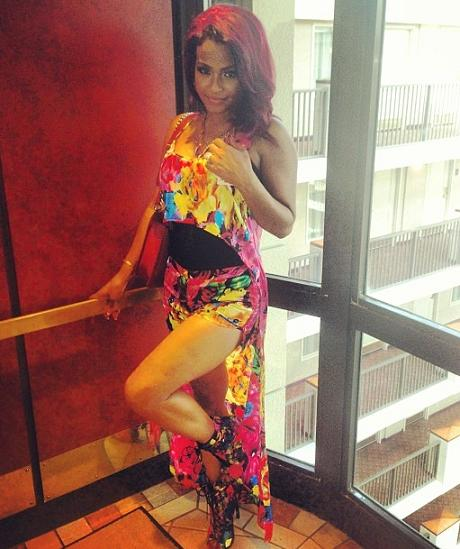 Christina_Milian_Ricki_Brazil_Enchanted_Garden_Foral_Crop_Top_Shorts