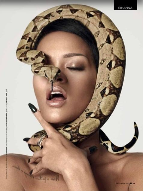 Rihanna_Snake_British_GQ_Magazine_Spread