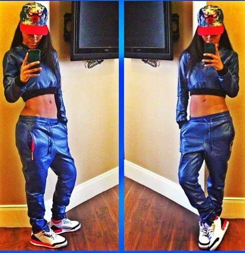 Teyana_Taylor_PRSVR_Black_Leather_Track_Pants_Crop_Top